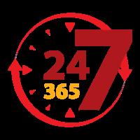24 / 7 / 365 Days - Year around